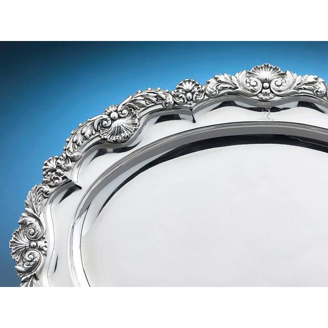 This exquisite Regency silver meat dish by master silversmith Paul Storr is a work of sublime beauty. Magnificently...