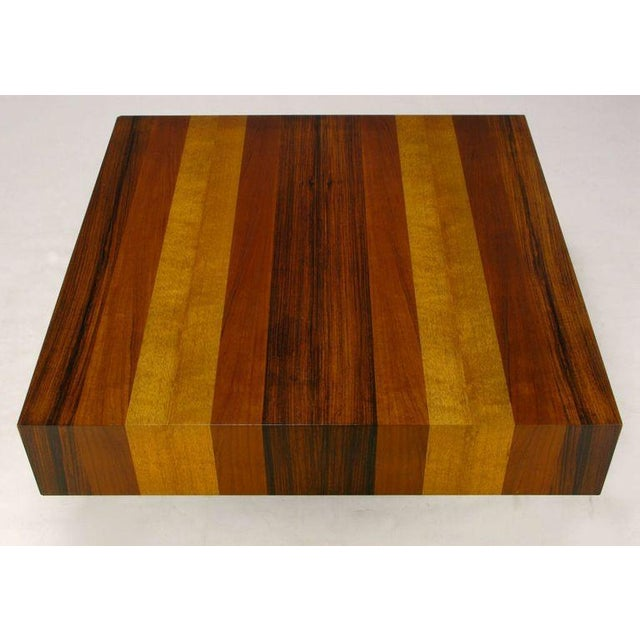 Danish Exotic Wood Parquetry Top Square Coffee Table For Sale In Chicago - Image 6 of 6