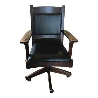 Stickley Leatherback Swivel Tilt Chair