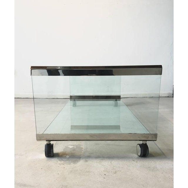 Chrome and Glass Coffee Table, by Pierangelo Galotti for Galotti & Radice, 1975 - Image 3 of 7