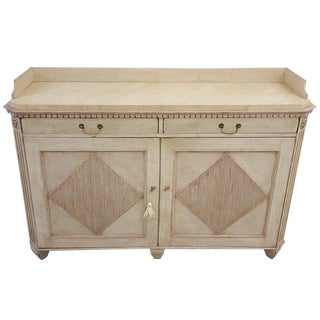 Neoclassical Painted Cabinet For Sale