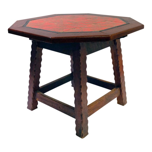 1920's Folk Art Monterey-Style California Tile Side Table For Sale In Los Angeles - Image 6 of 6