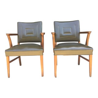 Vintage Mid-Century Gunlocke Armchairs - A Pair For Sale