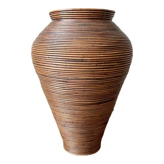 Vintage Late 20th Century XL Pencil Reed Vase For Sale