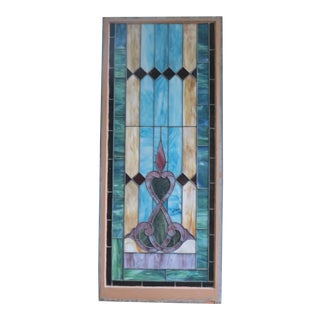 19th Century Victorian Stained Glass Window For Sale