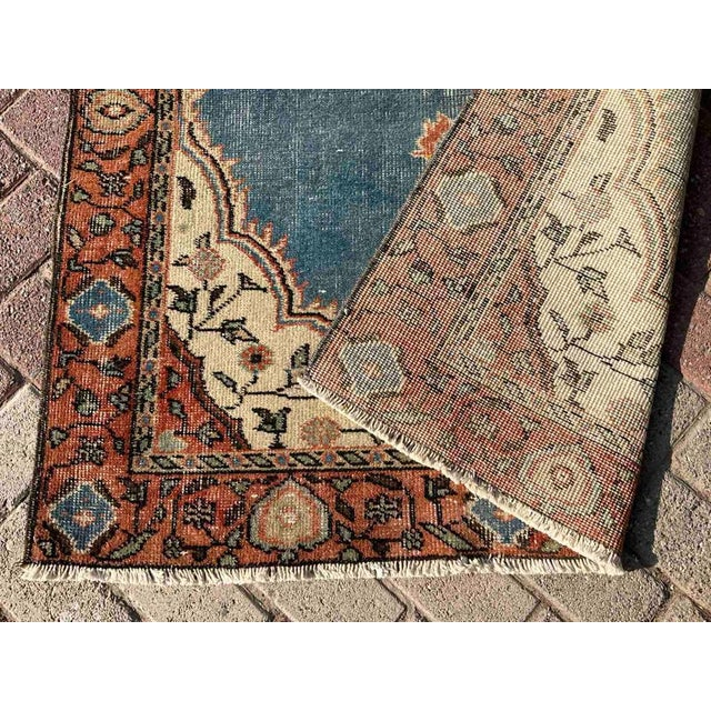 Vintage Hand Knotted Turkish Area Rug For Sale - Image 9 of 10