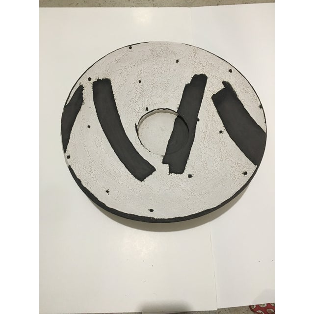 Vintage Mid-Century Studio Pottery Charger For Sale - Image 4 of 4