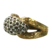 1970s Pavé Rhinestone Cocktail Ring For Sale