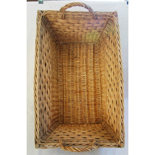 Early 1900s French Willow and Wicker Market Basket - Image 6 of 9