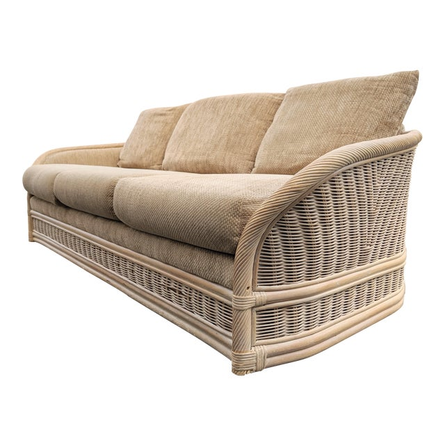 Astonishing Boho Chic Organic Modern Rattan Sofa Gmtry Best Dining Table And Chair Ideas Images Gmtryco