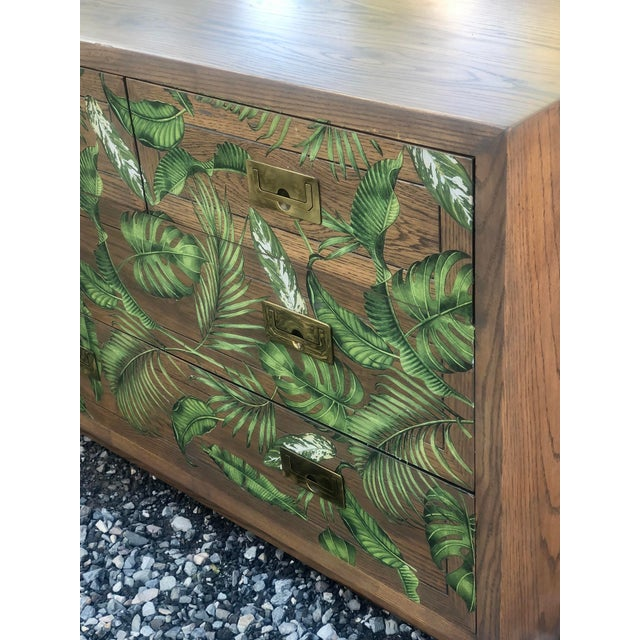 Iconic Henredon Scene One Bachelor Chest. This campaign style classic has been given a new finish to update its classic...