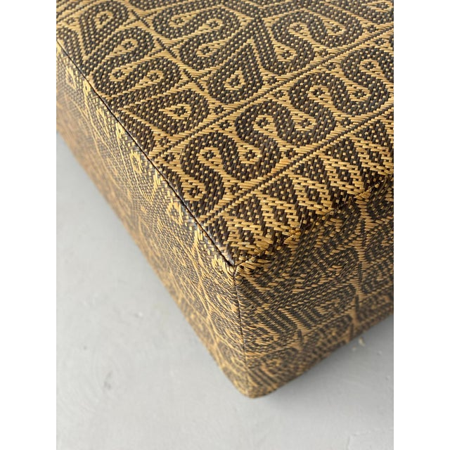 Early 21st Century Boho Chic Borneo Mat Coffee Table For Sale - Image 5 of 9