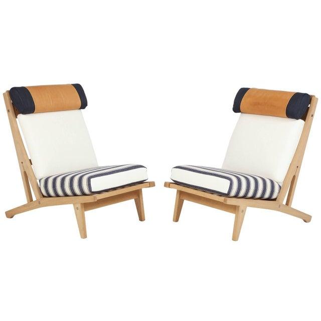 "Circa 1960's Hans J. Wegner Denmark ""Getama"" Lounge Chairs- a Pair For Sale - Image 13 of 13"