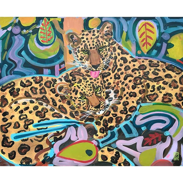 Jaguars Contemporary Painting For Sale