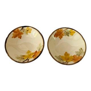 """Vintage Franciscan China """" October Pattern"""" Set of 2 Cereal Bowls For Sale"""