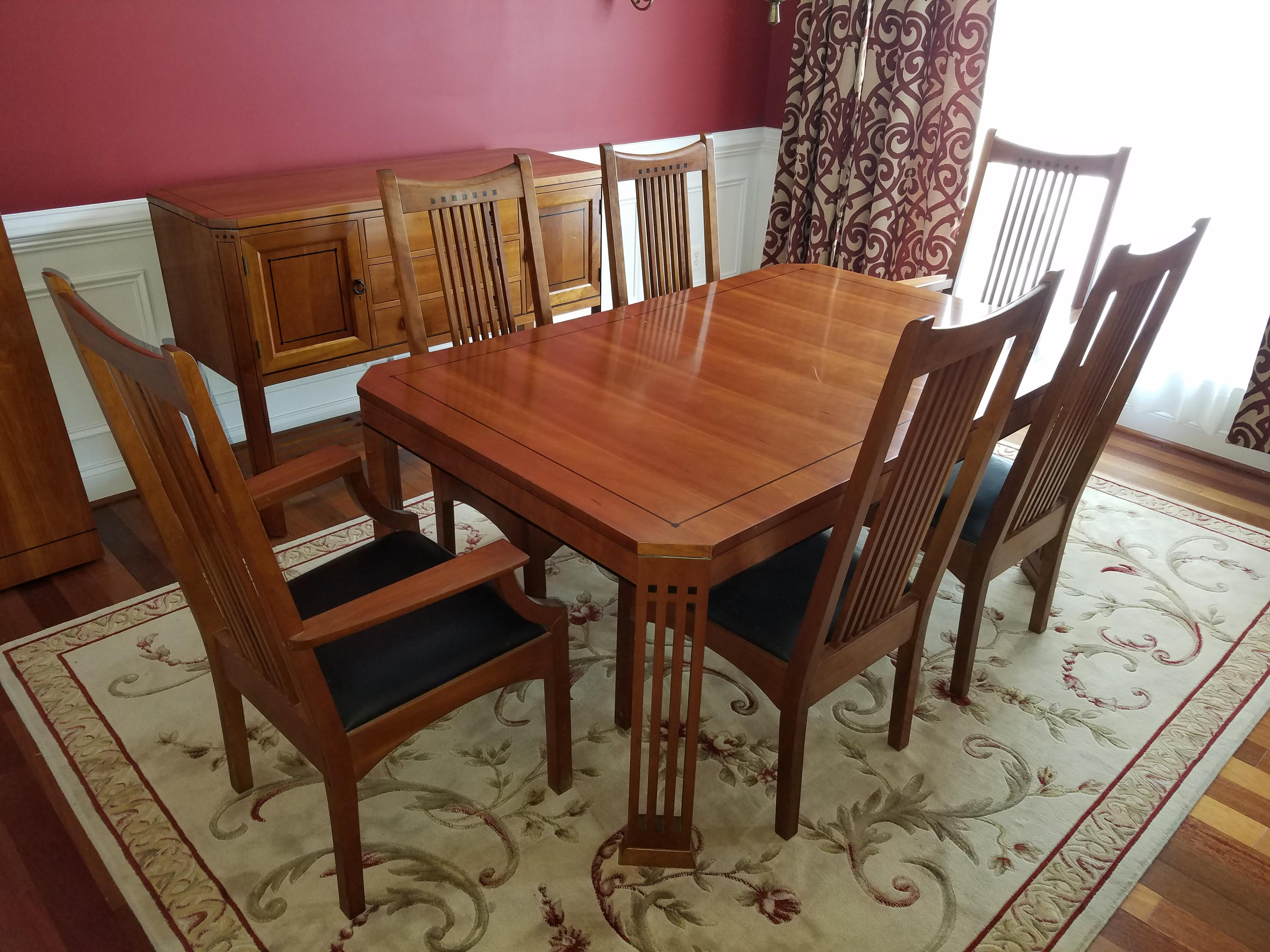 Stickley 21st Century Collection Dining Table Set With 6 Chairs - Image 2 of 11  sc 1 st  Chairish & Stickley 21st Century Collection Dining Table Set With 6 Chairs ...