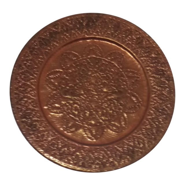 Hanging Etched Copper Plate For Sale