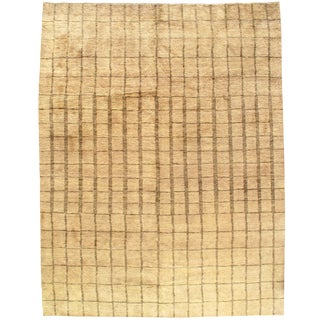 """Contemporary Pasargad Ny Moroccan Hand-Knotted Rug - 9′1"""" × 11′10"""""""