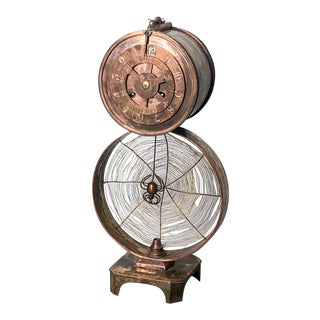 1900 Spider Web Clock For Sale