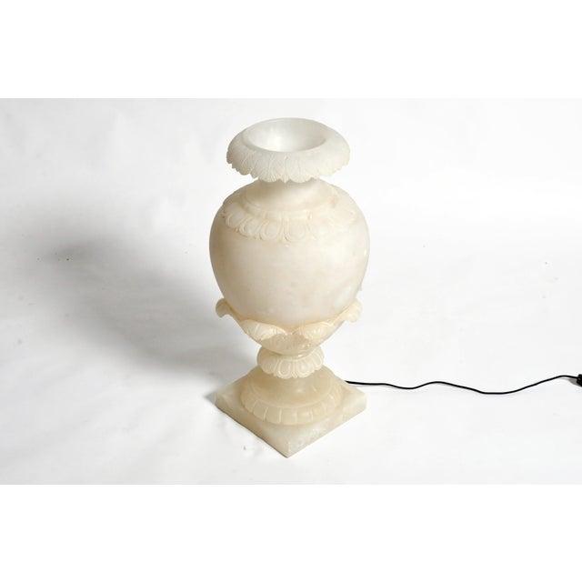 1930s Vintage French Alabaster Jar Lamp For Sale - Image 5 of 11
