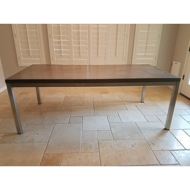 Modern Industrial Concrete Dining Table For Sale - Image 4 of 8