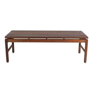Gunlocke Mid-Century Modern Walnut Coffee Table
