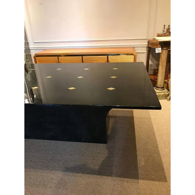 "Stunning Goatskin ""Shagreen"" Lacquered Dining Table - Image 4 of 8"