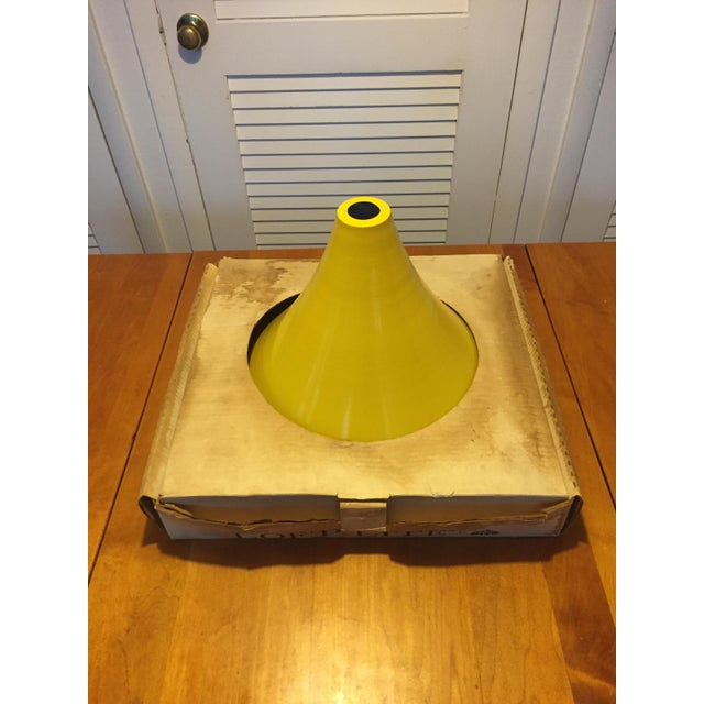 1960s 1960s Vintage Yellow Pendant Lamp For Sale - Image 5 of 7