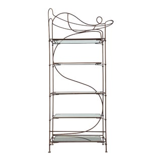Postmodern Wrought Iron Etagere For Sale