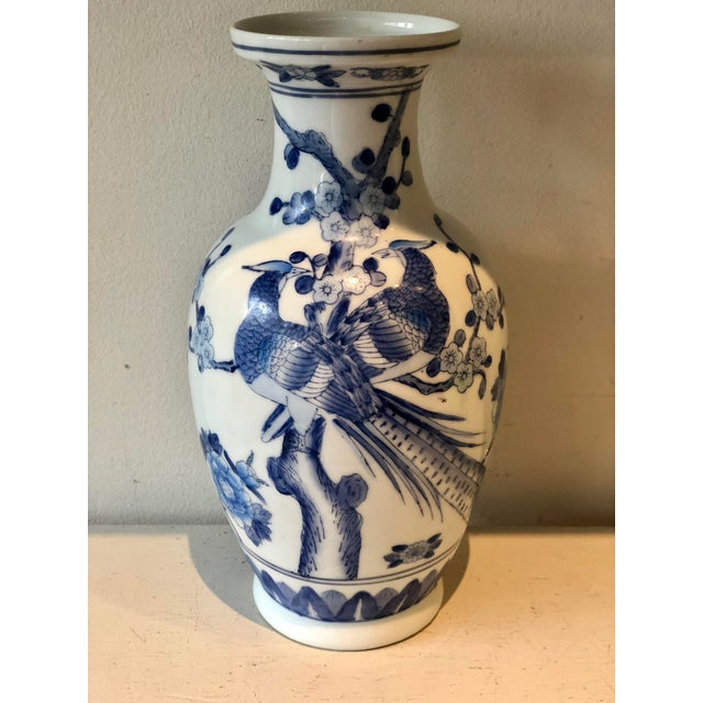 Paint Blue & White Jar For Sale - Image 7 of 7