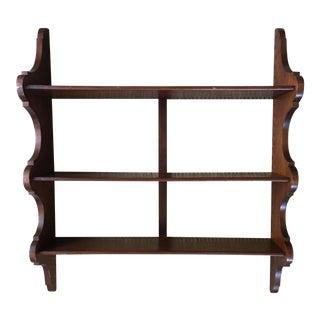 Early 19th C. English Mahogany 3-Tier Wall Shelves