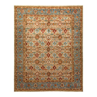 One-Of-A-Kind Oriental Serapi Hand-Knotted Area Rug, Oat, 8' 0 X 9' 8 For Sale
