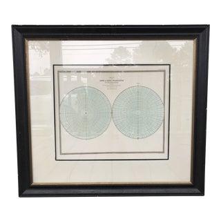 Antique Baker Map, Framed For Sale