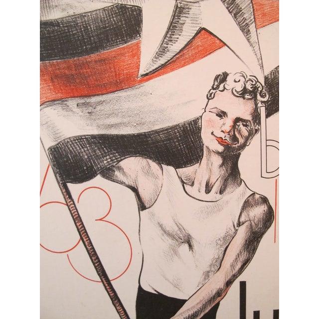 1938 Dutch Olympiad Celebration Poster - Image 2 of 3