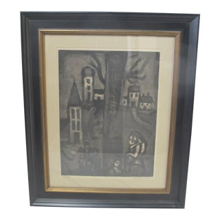 French Georges Rouault Plate 10 Miserere Old District of Long Suffering Aquatint For Sale