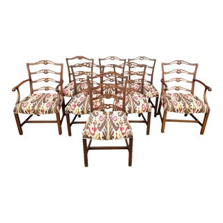 Set of 8 Chippendale-Style Chairs For Sale