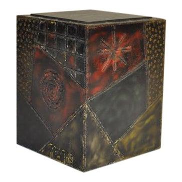 Paul Evans Welded Steel Cube Table For Sale