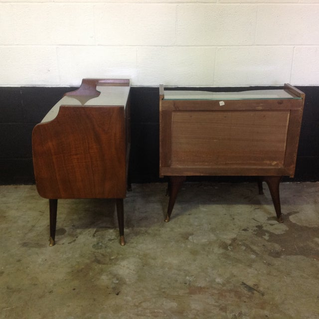 Mid-Century Italian Burl Wood Side Tables - Pair For Sale - Image 4 of 8