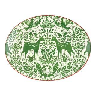 Kenneth Ludwig Chicago Mistletoe Oval Platter For Sale