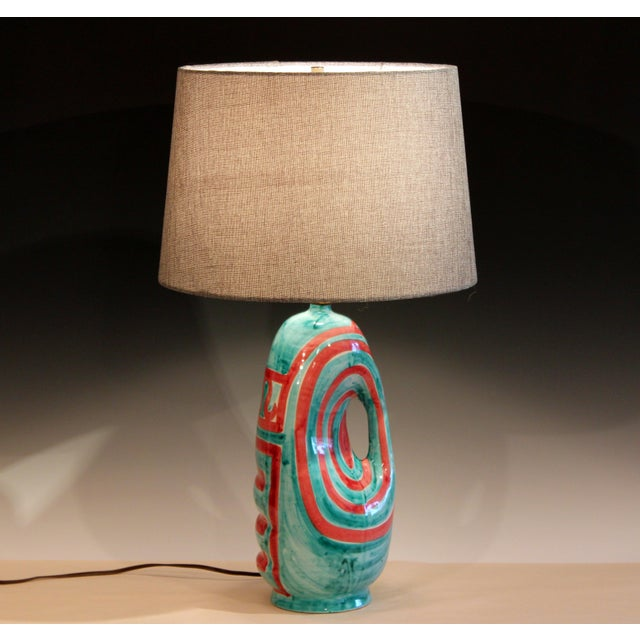Vintage Italian Raymor Pottery Vase Lamp For Sale - Image 10 of 10