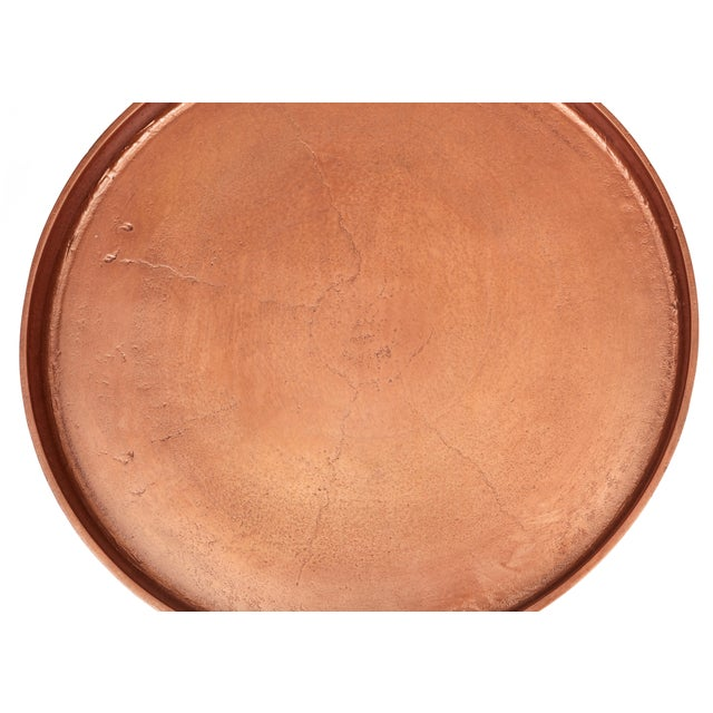 Not Yet Made - Made To Order Kim End Table, Vintage Copper For Sale - Image 5 of 7