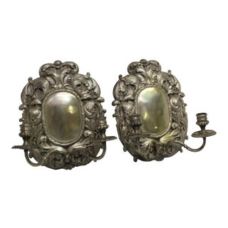1990s English Style Wall Sconces / For Sale
