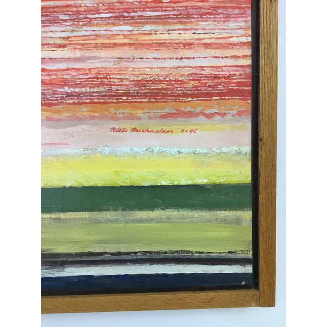 1990s 1990s Oil Painting by Niels Michaelsen For Sale - Image 5 of 9