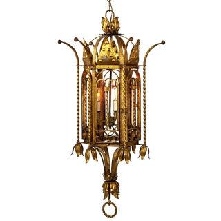 Gold Painted Iron Pendant Lantern