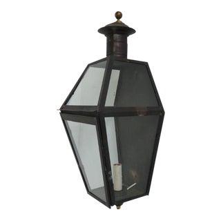 Vintage Tranditional Copper Lantern Sconce For Sale