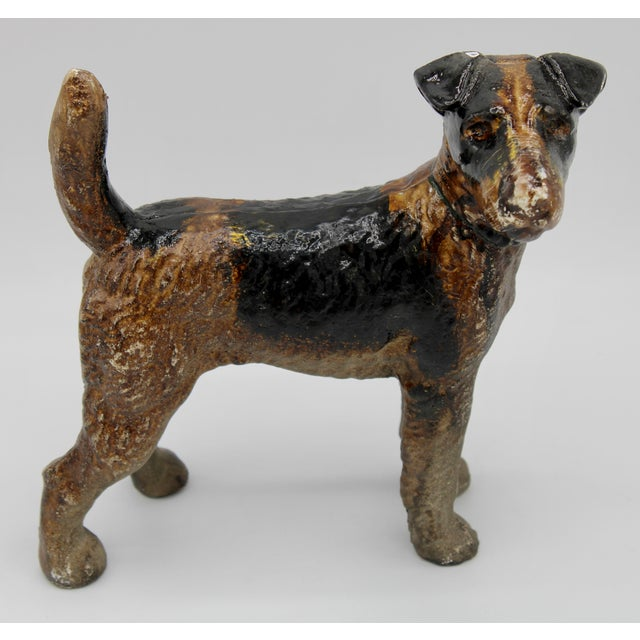 A fine Fox Terrier, very heavy. Would make an excellent garden decoration, door stop, or office accent. A unique gift for...