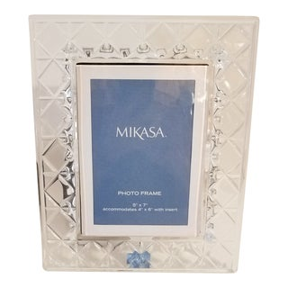 Mikasa Crystal 5 X 7 Photo Frame For Sale