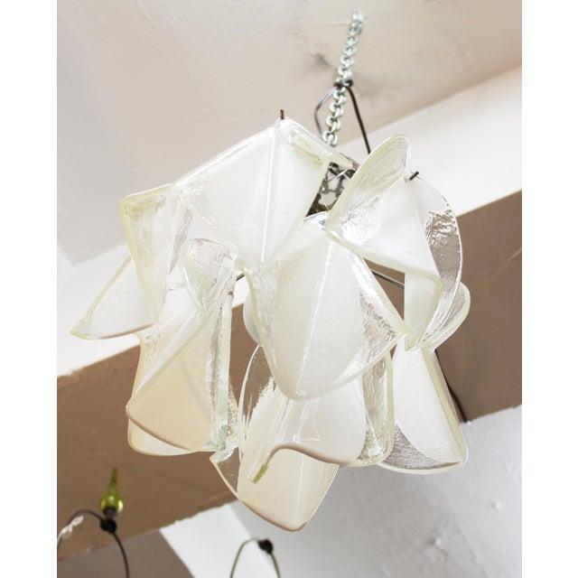 Italian Modern Murano Glass Handkerchief Pendant For Sale - Image 4 of 8