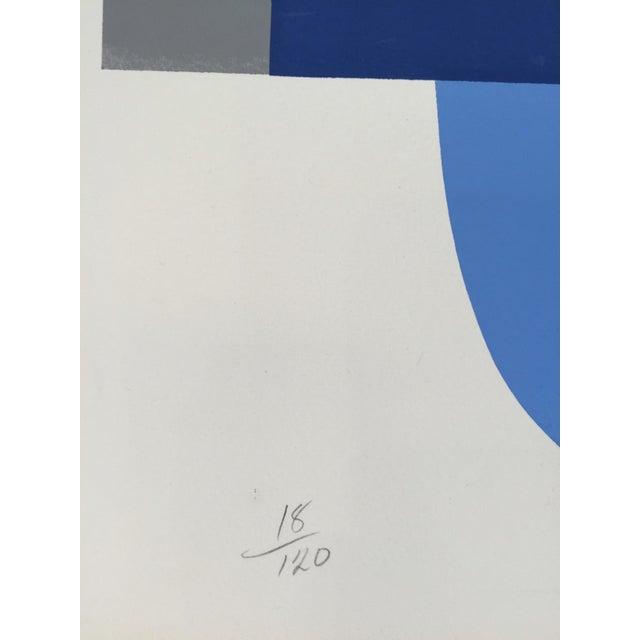 1970s Nadine Pardo 1972 Abstract Silkscreen For Sale - Image 5 of 9
