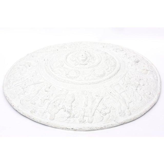 Modern 1990s Modern Versace Style White Plaster Resin Medallion For Sale - Image 3 of 10